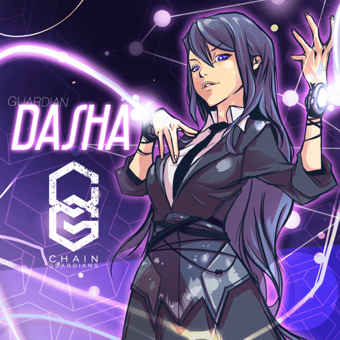 Dasha; the Guardian of the world of Dash. Designed and created by Noi Sackda.