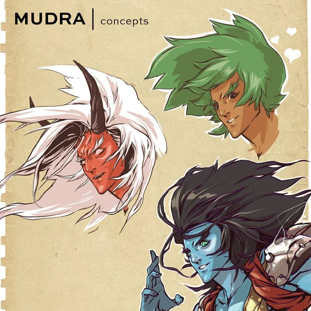 Mudra, the MATIC Network inspired Guardian, coming to life. Art work by Noi Sackda.