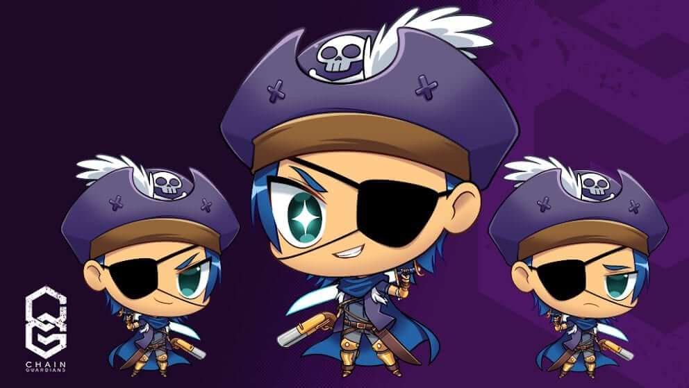This cute little chibi version of The Captain was created by Noi's cousin - who is also an artist!